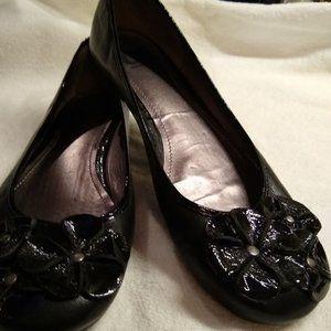Gianni Bini GB Black Leather & Patent Flats Sz 11